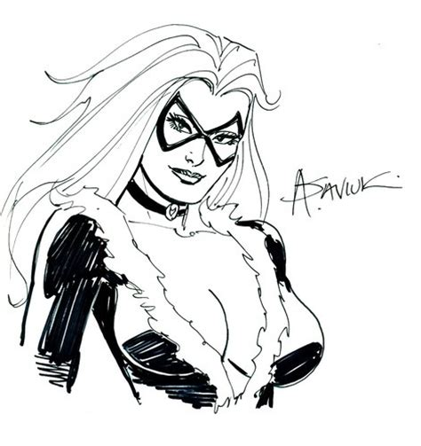 year sketchbook original black cat sketch by alex saviuk spider