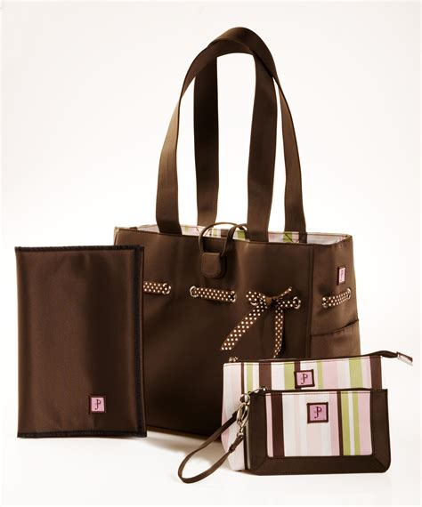 Lizzy Tote by Jp Lizzy Mocha Mint Classic Tote Set Designer Bag