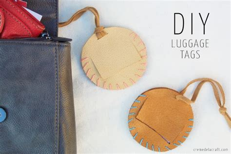 diy leather luggage tags my trip to hawaii