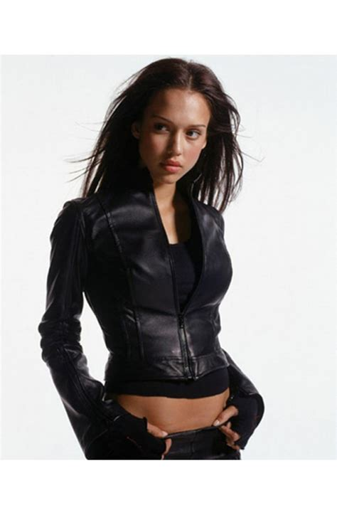 Alba Leaher the gallery for gt fitted leather jacket for