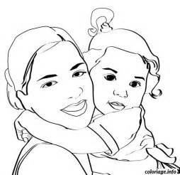coloriage bebe maman jecolorie