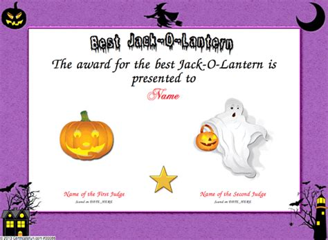 certificates for halloween pumpkins pictures to pin on