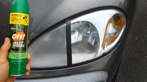 what can i use to clean my car seats using bug spray to clean headlights warning
