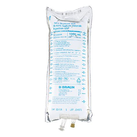 Vinyl Chloride Intravenous Detox by 10 Dextrose And 0 45 Sodium Chloride Injection Usp 1000 Ml