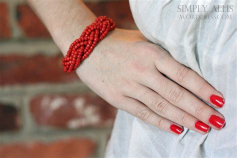 www tutorial diy bracelet made from braided beads simply allis