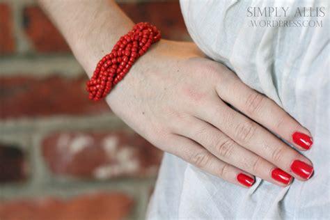 diy braided bead bracelet diy bracelet made from braided simply allis