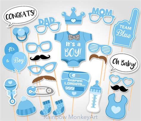 free baby shower photo booth printables baby shower photo booth props printable photo booth props