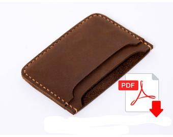 leather card holder template leather wallet pattern leather pattern purse pattern