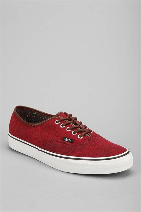 Vans Authentic Classic Maroon outfitters vans washed authentic mens sneaker in