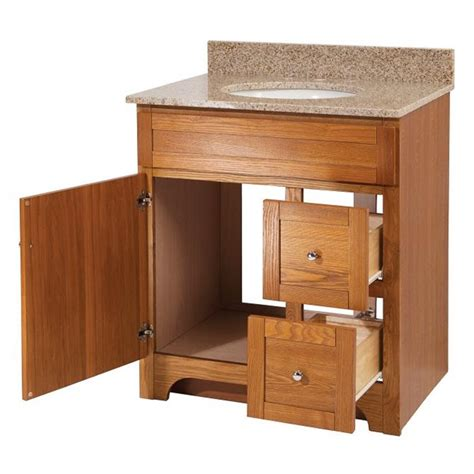 Oak Bathroom Vanity Worthington 30 Inch Oak Bathroom Vanity Burroughs
