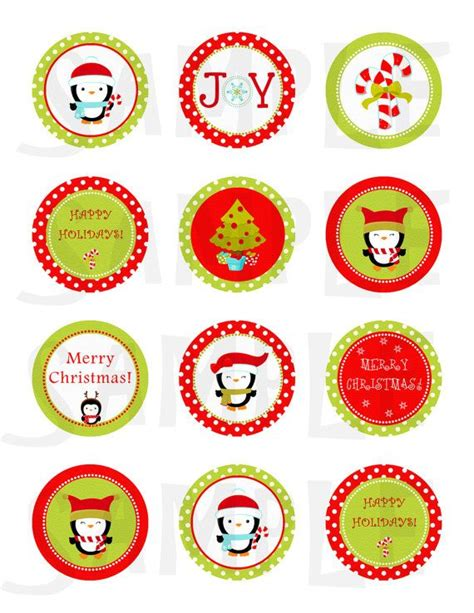 Stiker Natal Sticker 2 stickers cupcake toppers