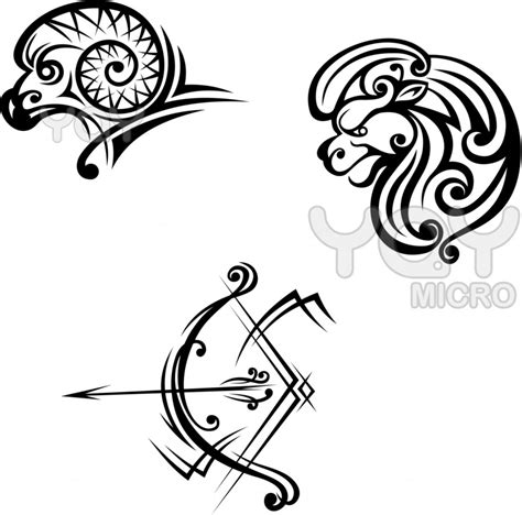 leo and aries tattoo leo aries and sagittarius symbols for design ideas