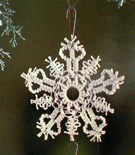 pattern macrame snowflake 12 twelve vintage macrame snowflake christmas ornament