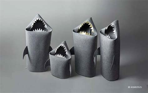 handmade baby shark kids toy storage bins gadgetsin
