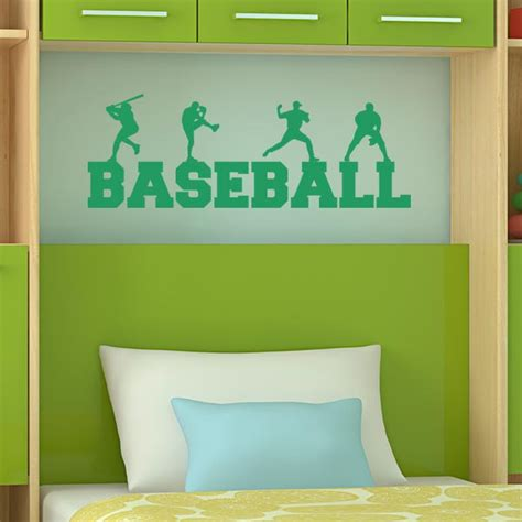 wall word stickers baseball decals for bedroom baseball vinyl wall decal