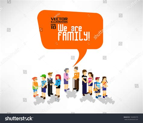 Family Gathering Design Vector | family gathering together vector icon design stock vector