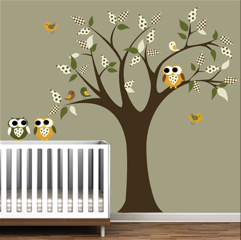 room decals nursery tree decal wall sticker children decals with