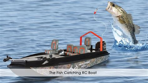 rc fishing boat accessories the fish catching rc boat youtube