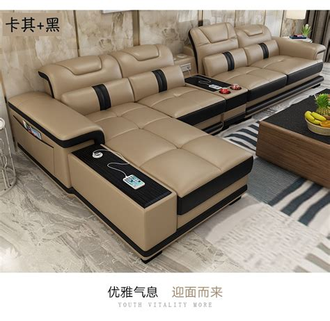Real Leather Sectional Sofa by Living Room Sofa Set Corner Sofa Speaker Real Genuine Cow