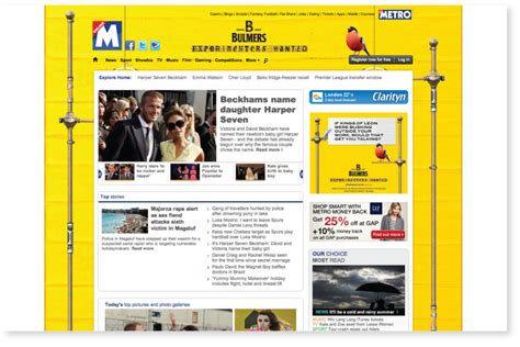 bulmers metro home page takeover tom walsh design