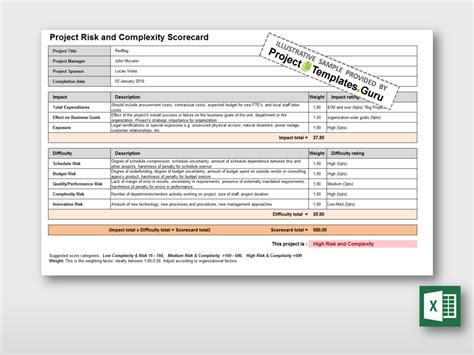 risk scorecard template choice image templates design ideas