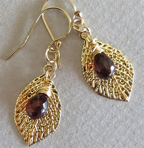 Sej White Gold handmade garnet earrings cool costume jewelry for you