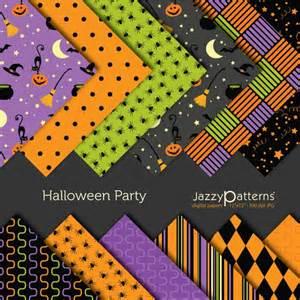 halloween scrapbooking paper halloween party digital scrapbooking paper pack by