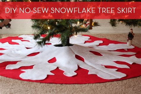 how to make a diy no sew tree skirt christmas trees