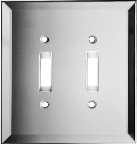 mirrored glass light switch covers glass mirror clear switch plates girls room pinterest