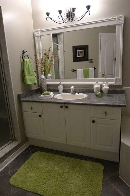bathroom vanity  custom mirror frame contemporary