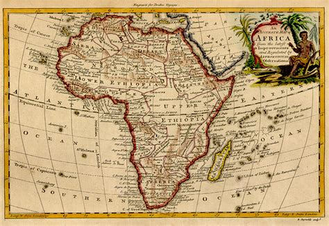 africa map history 1771 map of africa
