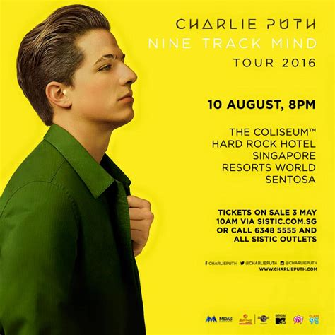 charlie puth concert asia charlieputh american singer songwriter to perform in