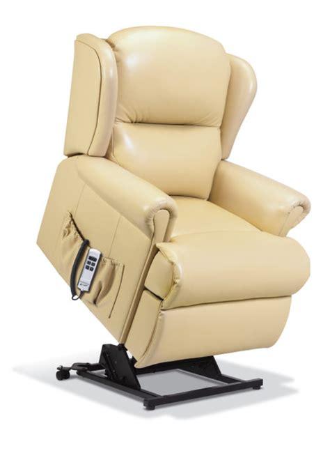malvern small leather lift rise recliner sherborne