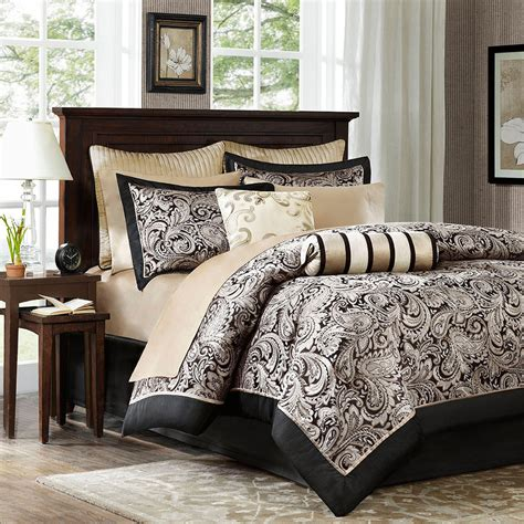 Silver And Gold Bedding Sets Beautiful 12pc Luxurious Black Gold Silver Grey Comforter Set Sheets Ebay