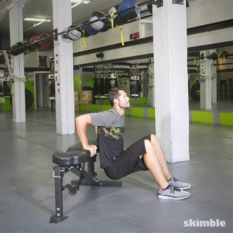 how to do bench dips bench dips exercise how to workout trainer by skimble