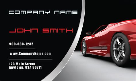 Free Automotive Card Template by Luxury Car Dealer Business Card Design 501051