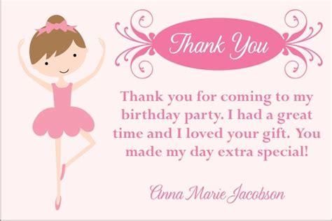 ballerina birthday card template pretty ballerina thank you cards select a dancer