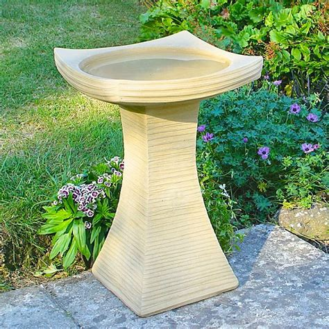 contemporary bird bath garden bird baths