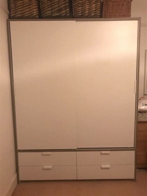 ikea trysil wardrobe bedside tables  drawers bedroom furniture sliding doors  plymouth