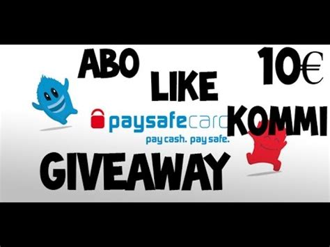 Paysafecard Giveaway - full download 100 paysafecard verlosung giveaway