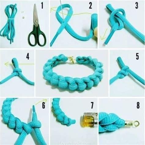 Gambar Dan Cara Membuat Gelang Dari Tali Sepatu | cara membuat gelang dari tali sepatu mudah dan lengkap