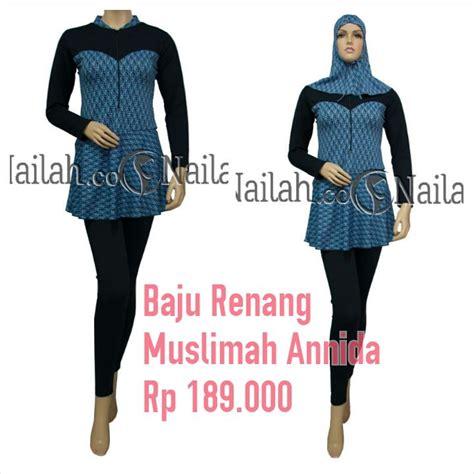 Baju Renang Muslimah Rahmani baju renang muslimah annida harga rp 189 000 terbuat