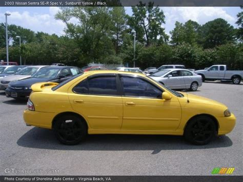 nissan sentra yellow 2003 nissan sentra se r spec v in sunburst yellow photo no