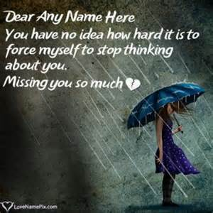 write name on i miss you images 4