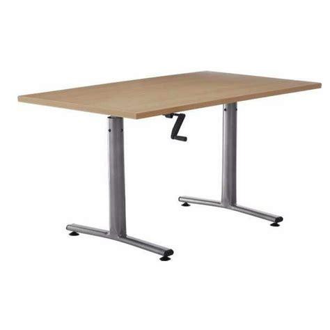 bureau à hauteur variable table rectangulaire 224 hauteur variable boreal
