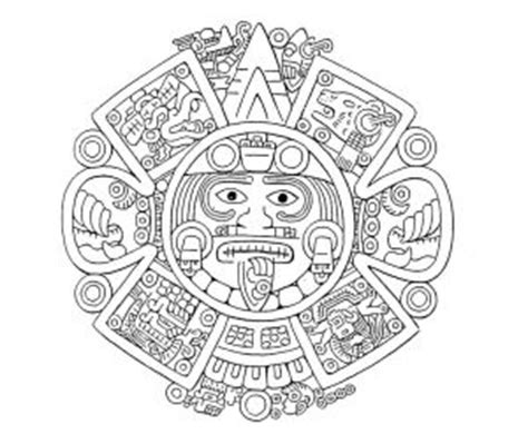 imagenes aztecas para descargar dibujos aztecas para colorear dise 241 os f 225 ciles y divertidos