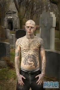 skeleton man tattoo full body 社会人火哥纹身头像 qq头像大全