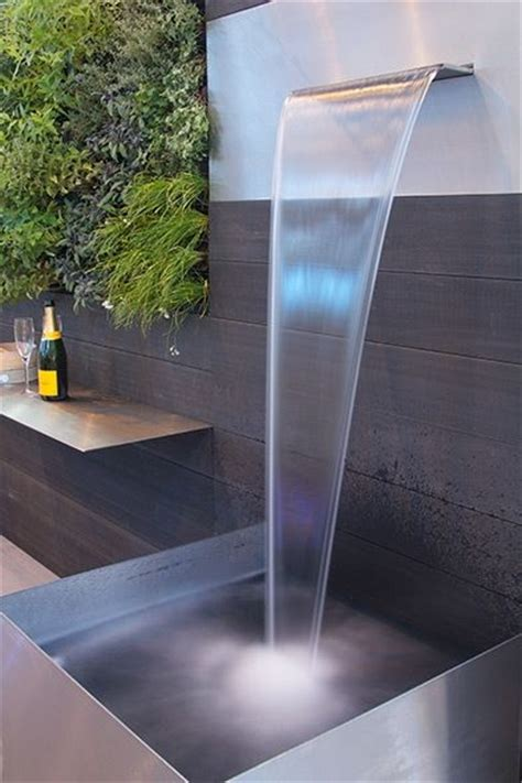 Modern Water Features | fountain garden design pinterest