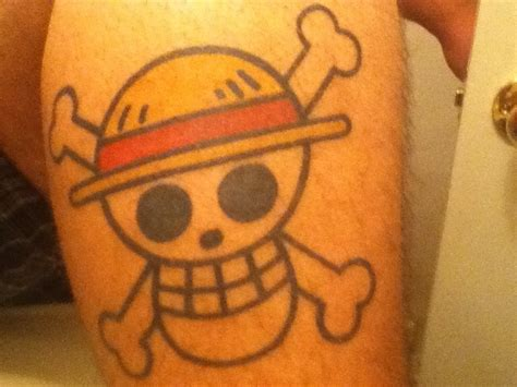 one piece skull tattoo my one piece tattoo onepiece