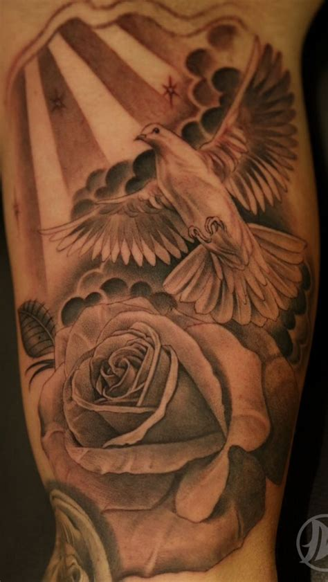 dove and rose tattoos 35 dove tattoos with roses